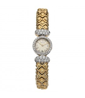 Cartier diamonds and gold watch