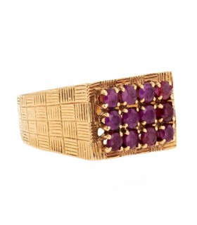 Rubies and gold ring
