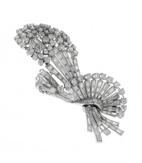 Diamonds and platinum brooch