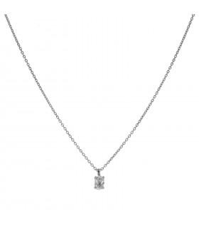 Collier or et diamant - Diamant 0,50 ct