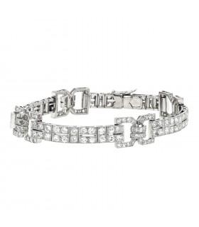 Art Déco diamonds and gold bracelet