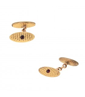 Gold plated cufflink