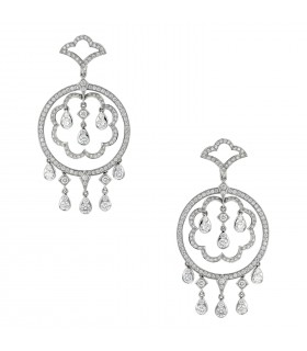 Diamonds and gold earrings