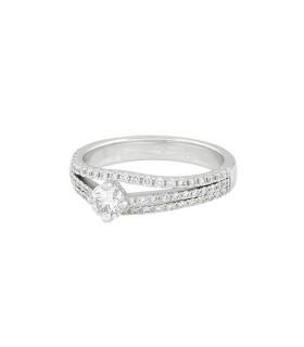 Diamonds and gold ring - Diamond 0,30 ct