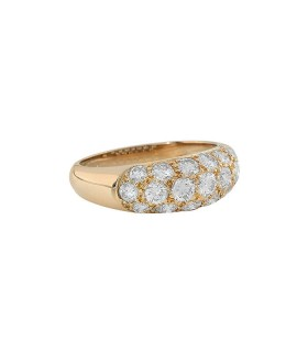 Diamonds and gold ring