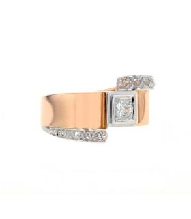 Diamonds, gold and platinum ring