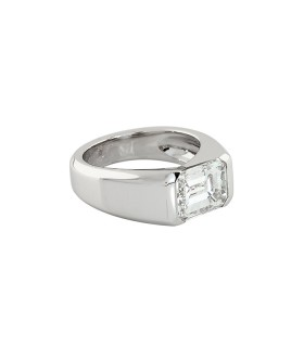 Fred ring - GIA certificate 3,01 ct E VS1
