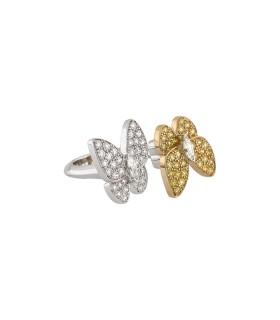 Van Cleef & Arpels Entre Les Doigts Deux Papillons ring