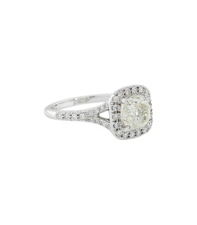 Diamonds and gold ring - GIA certificate 1,65 ct K VS2