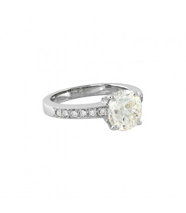 Diamonds and gold ring - GIA certificate 2,25 cts L VS2