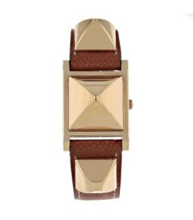 Hermès Médor gold plated watch