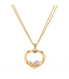 Chopard Happy Curves diamonds and gold necklace