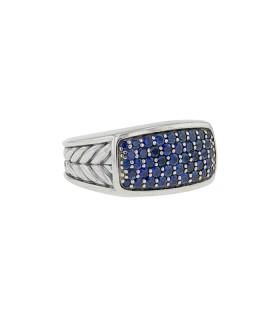 David Yurman Navy sapphires and silver ring