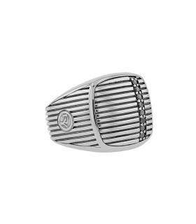 David Yurman diamonds and silver ring