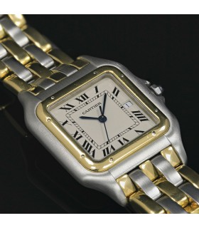 Cartier Panthère stainless steel and gold watch