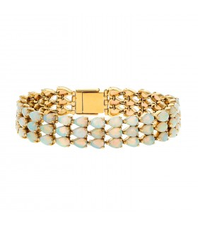 Opales and gold bracelet