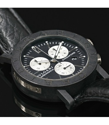Bulgari Carbongold Singapore gold and carbon watch