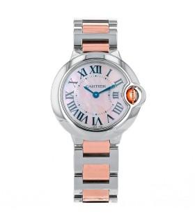 Cartier Ballon Bleu gold and stainless steel watch
