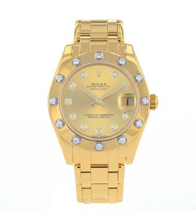 Rolex Pearlmaster diamonds and gold watch circa 2016