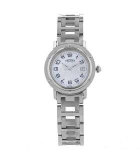 Hermès Clipper stainless steel watch circa 2008