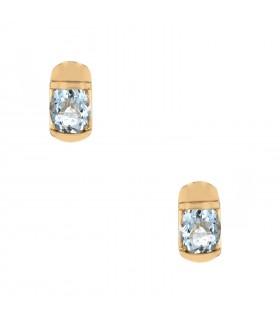Aquamarine and gold earrings