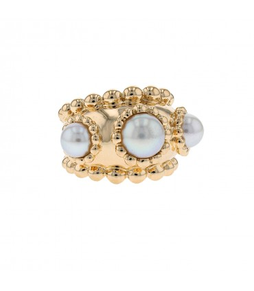 Chanel Baroque cultured pearl and gold ring
