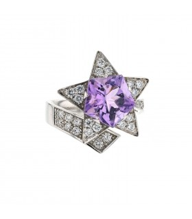 Chanel Comète diamond, amethyst and gold ring