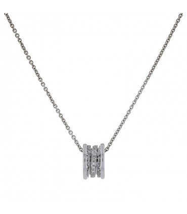 Bulgari Bzero 1 diamonds and gold necklace