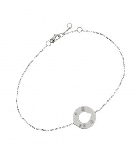 Dinh Van Cible diamonds and gold bracelet