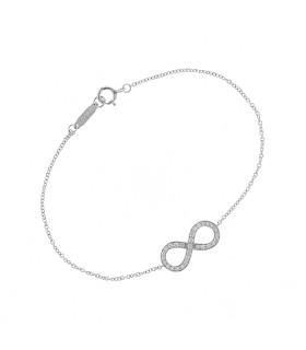 Tiffany & Co. Infinity diamonds and gold bracelet