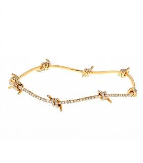 Lorenz Bäumer Fil D'Amour diamonds and gold bracelet