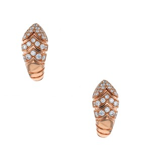 Bulgari Serpenti diamonds and gold earrings
