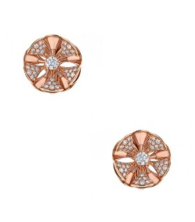 Bulgari Divas' Dream diamonds and gold earrings