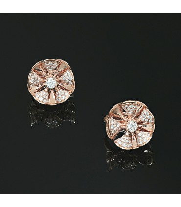 Bulgari Divas' Dream diamonds and gold earrings