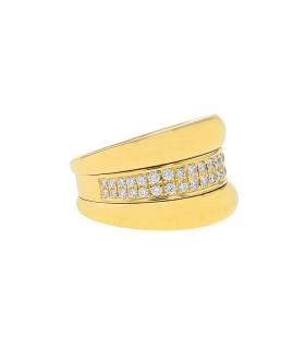Chopard La Strada diamonds and gold ring