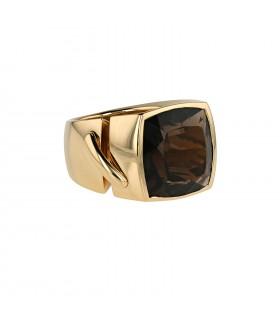Chaumet Liens smoqued quartz and gold ring