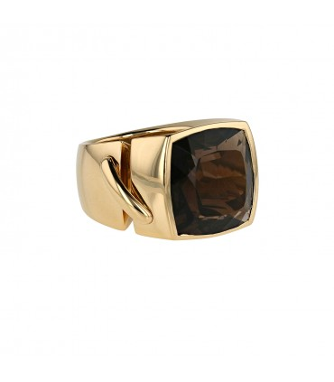Chaumet Liens smoqued quartz and gold ring