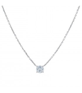 Diamond and gold necklace - GIA certificate 1,00 ct F VS2