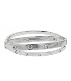 Cartier Love diamonds and gold bracelet Size 17