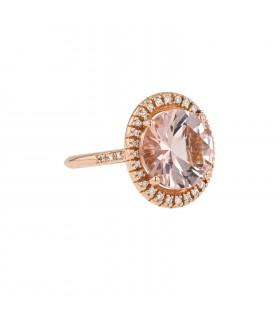 Mauboussin Vraiment Toi morganite, diamonds and gold ring