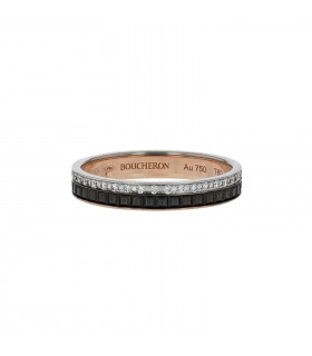 Boucheron Quatre diamonds and gold ring