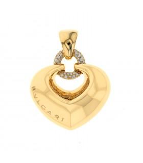 Bulgari diamonds and gold pendant