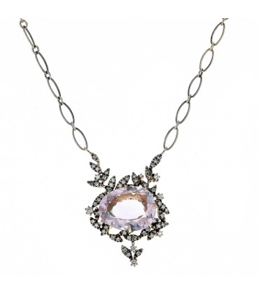 H. Stern Nature diamonds, amethyst and gold necklace