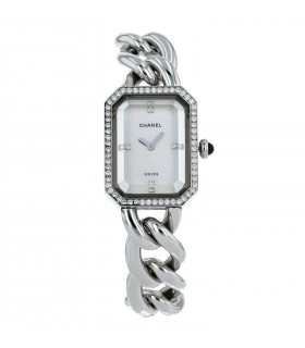 Chanel Première stainless steel and diamonds watch