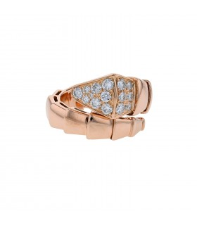 Bulgari Serpenti diamonds and gold ring
