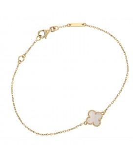 Van Cleef & Arpels Sweet Alhambra mother of pearl and gold bracelet