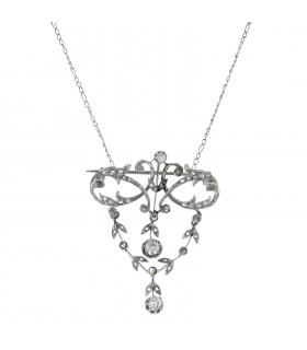 Diamonds and platinum necklace