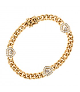 Chopard Happy Diamonds and gold bracelet