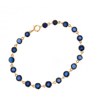 Sapphires and gold bracelet