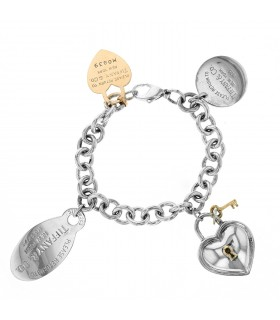 Tiffany & Co. Return to Tiffany silver and gold bracelet